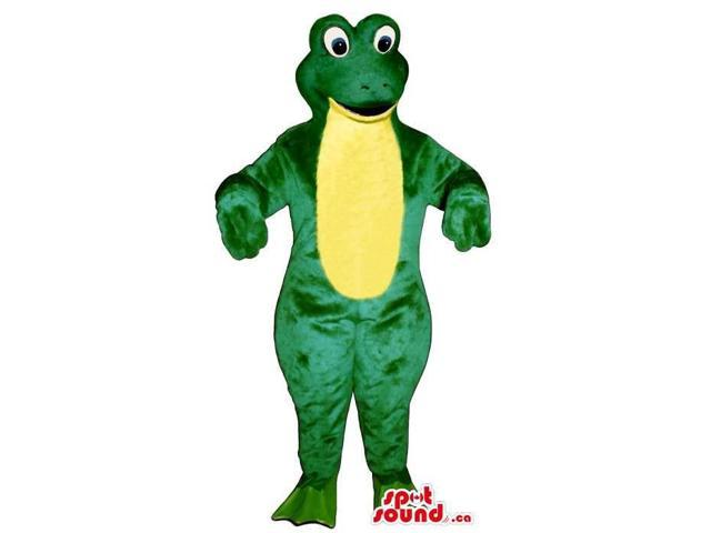Customised Green Frog Plush Canadian SpotSound Mascot With A Yellow Belly