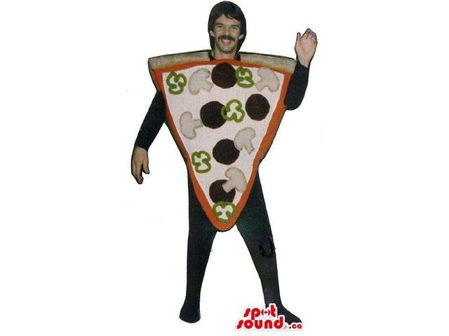 Mushroom And Olive Pizza Slice Adult Size Costume Or Canadian SpotSound Mascot
