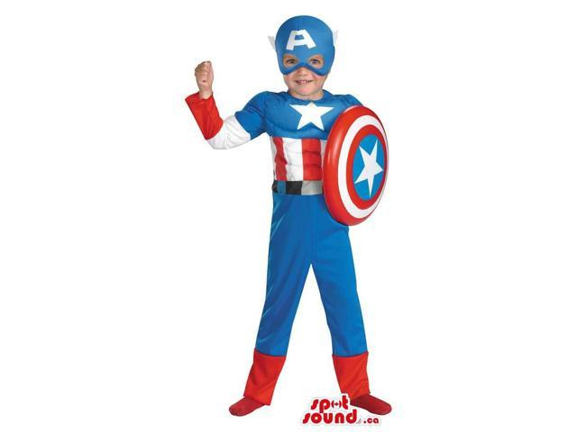 Cool Strong Captain America Children Size Costume