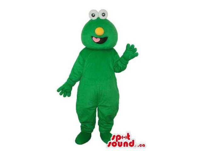 Cookie Monster Alike Character Plush Canadian SpotSound Mascot In Green