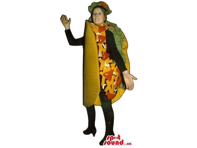 Full Large Mexican Taco Adult Size Costume Or Canadian SpotSound Mascot