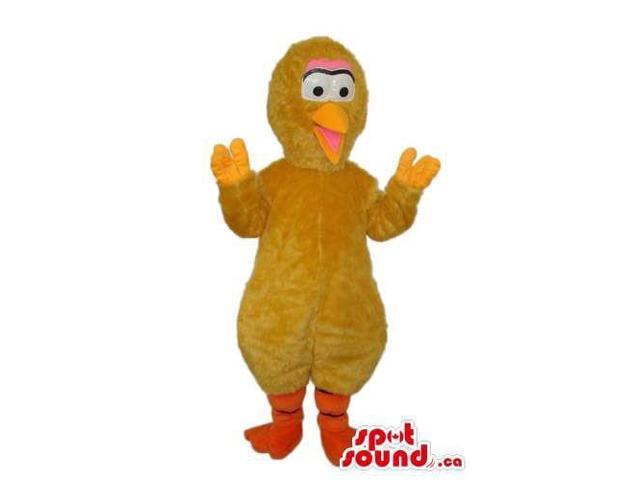 Large Bird Well-Known Alike Character Plush Canadian SpotSound Mascot In Brown