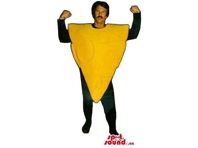 Large Cheese Triangle Slice Adult Size Costume Or Canadian SpotSound Mascot