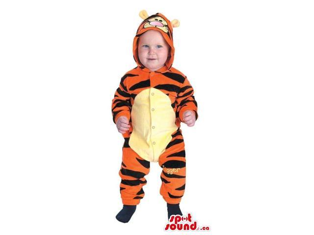 Cute Winnie The Pooh Tiger Character Toddler Size Costume