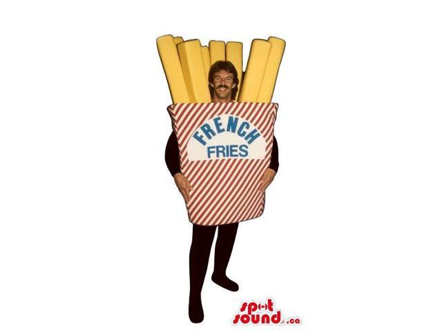 French Fries Bag With Text Adult Size Costume Or Canadian SpotSound Mascot