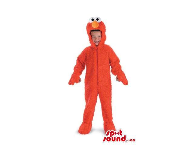 Cute Red Elmo Character Woolly Children Size Costume