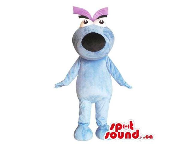 Cool Fairy-Tale Blue And Purple Large Dog Canadian SpotSound Mascot With A Large Head