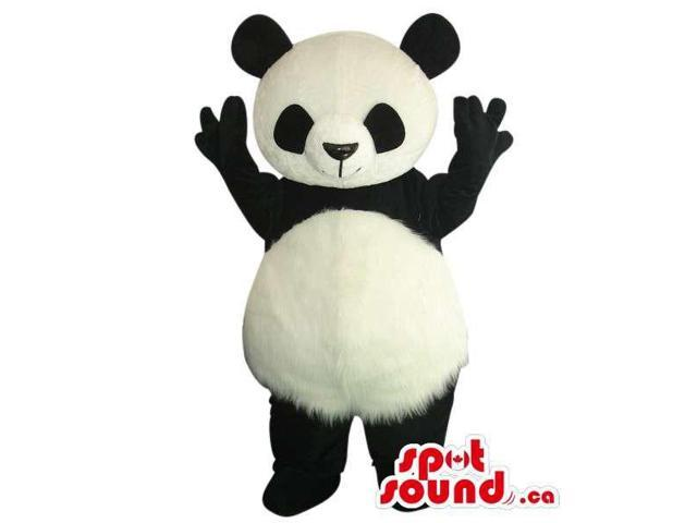 Customised Cute Panda Bear Plush Canadian SpotSound Mascot With Round Belly