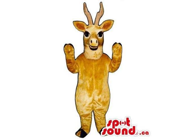 Customised All Light Brown Deer Animal Canadian SpotSound Mascot