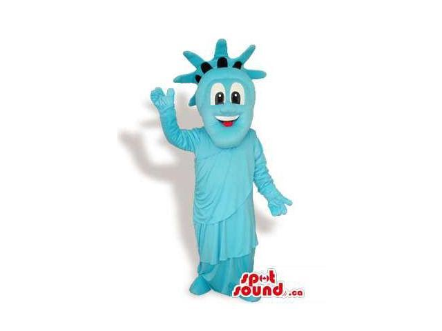 Cool Blue New York Statue Of Liberty Statue Plush Canadian SpotSound Mascot