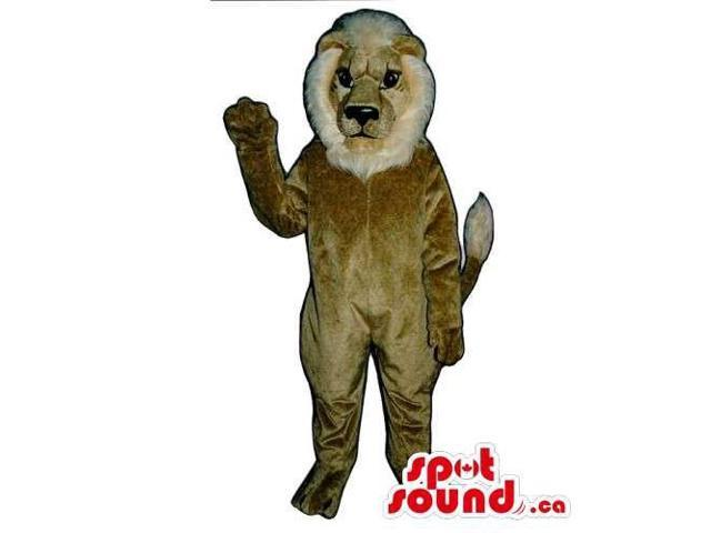 Customised All Beige Lion Animal Plush Canadian SpotSound Mascot