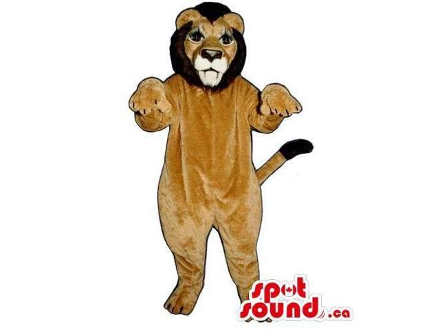 Customised And All Light Brown Lion Animal Canadian SpotSound Mascot