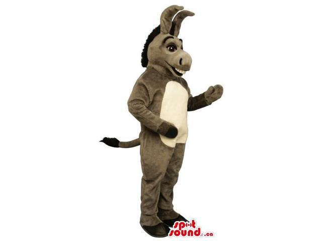 Customised Grey Donkey Canadian SpotSound Mascot With A White Belly