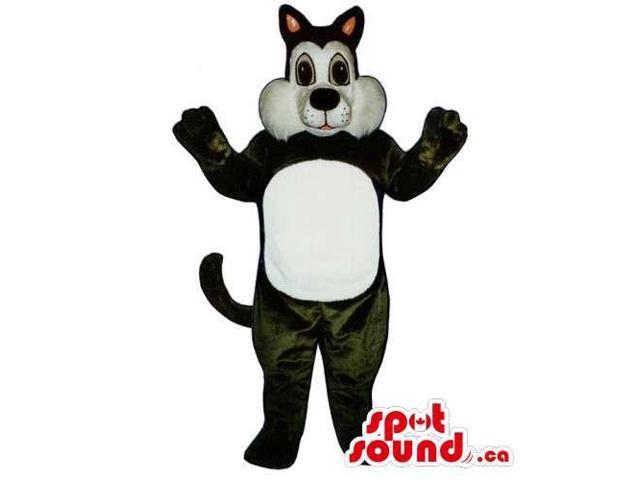 White And Black Sylvester Cat Cartoon Character Canadian SpotSound Mascot