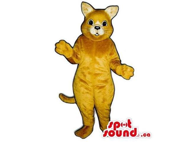 Customised And All Light Brown Cat Canadian SpotSound Mascot