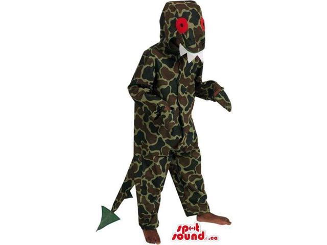 Dragon Children Size Costume With Camouflage Pattern
