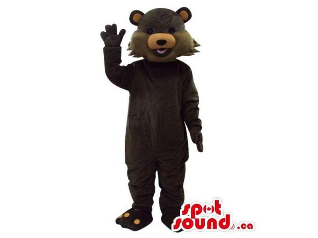 Customised Dark Brown Fairy-Tale Cartoon Bear Plush Canadian SpotSound Mascot