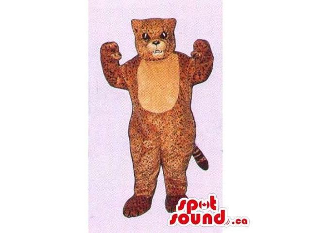 Customised Wildcat Canadian SpotSound Mascot With Small Spots And A Beige Belly
