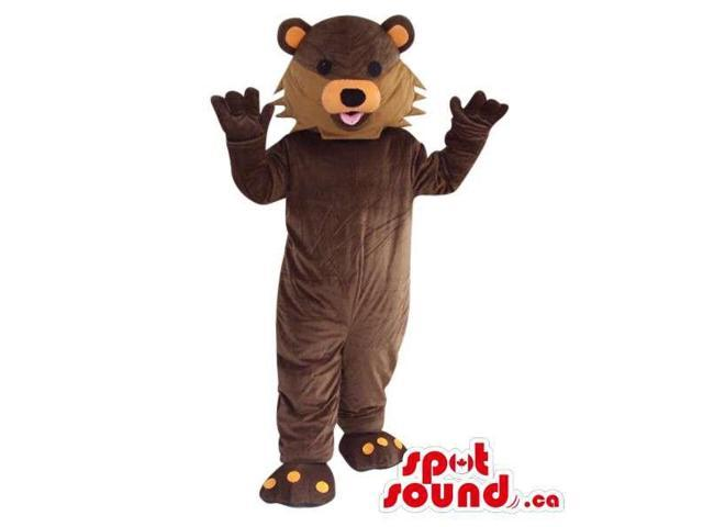Customised Brown Fairy-Tale Cartoon Bear Plush Canadian SpotSound Mascot