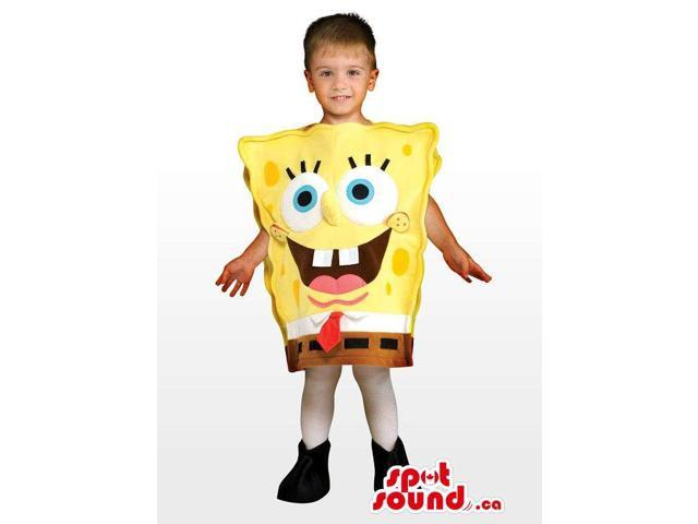 Cute Sponge Bob Character Plush Children'S Size Costume