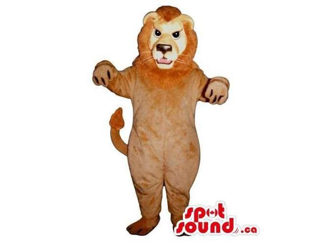 Customised And All Brown Lion Animal Canadian SpotSound Mascot