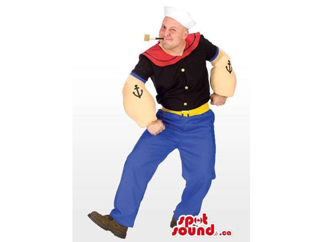 Popeye The Sailor Well-Known Cartoon Adult Size Disguise