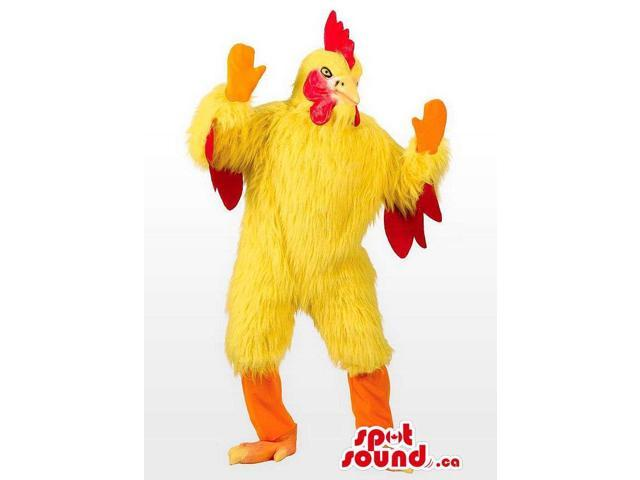 Yellow And Red Chicken Or Hen Adult Size Disguise Or Canadian SpotSound Mascot