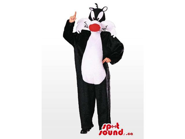 Sylvester Cat Well-Known Cartoon Adult Size Disguise Or Canadian SpotSound Mascot