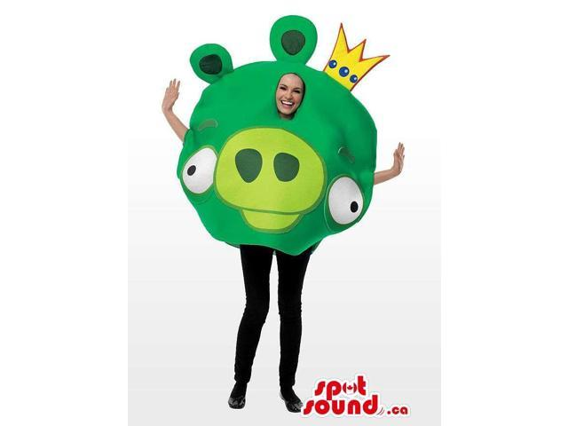 Green Well-Known Angry Birds Adult Size Plush Disguise