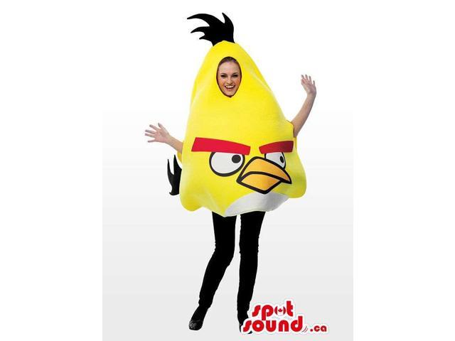 Yellow Well-Known Angry Birds Adult Size Plush Disguise