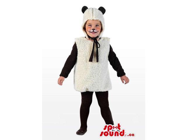 White Sheep Animal Plush Children Size Disguise Costume
