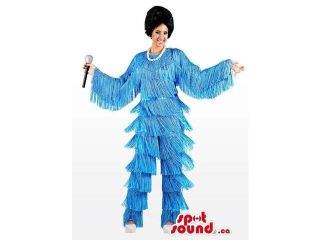 Shinny Awesome Disco Lady Character Adult Size Costume