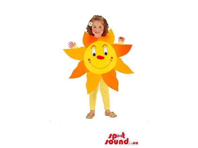 Peculiar Cute Yellow Sun Children Size Disguise With A Face