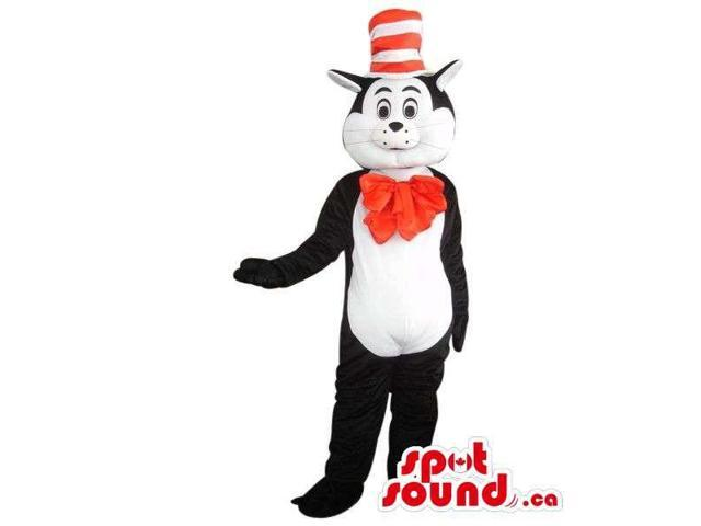 Well-Known Cat In The Hat Cartoon Children'S Story Plush Canadian SpotSound Mascot