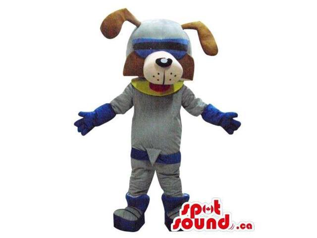 Fairy-Tale Brown Dog Plush Canadian SpotSound Mascot Dressed In A Space Suit