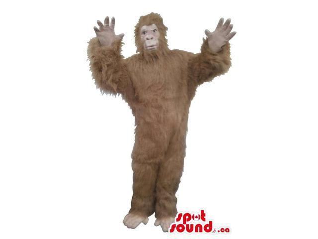 Great Brown Woolly Gorilla Plush Canadian SpotSound Mascot Or Disguise