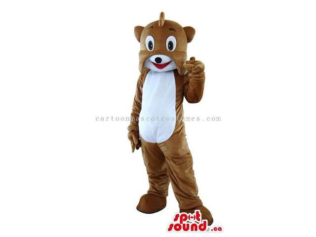 Customised Brown Dog Canadian SpotSound Mascot With A White Belly