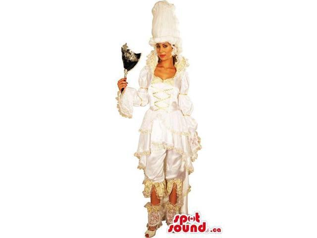 Marie Antoinette Adult Costume Disguise With White Wig