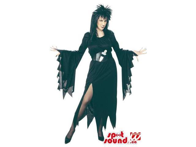 Adult Black Witch Costume Disguise With Black Wig