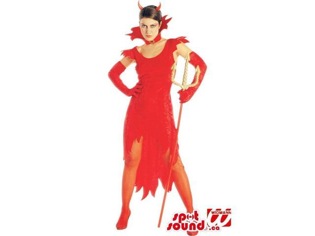 Passion Red Devil With Horns Adult Costume Or Disguise