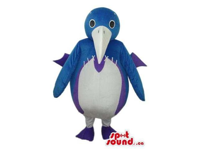 White And Blue Bird Toy Doll Canadian SpotSound Mascot With A White Beak