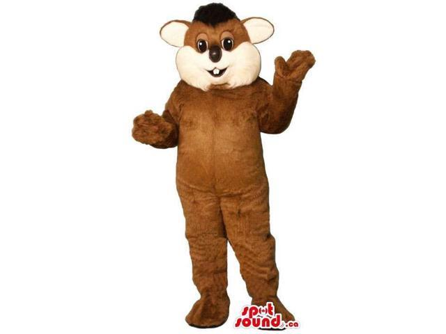 Customised Brown And Beige Beaver Animal Canadian SpotSound Mascot