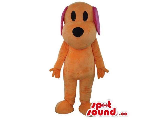 Cute Fairy-Tale Orange Dog Plush Canadian SpotSound Mascot With Long Ears