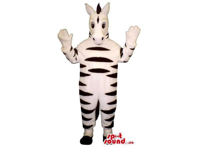 Customised Zebra Animal Plush Canadian SpotSound Mascot With More White Than Black