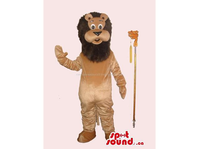 Customised All Brown Cute Lion Plush Canadian SpotSound Mascot