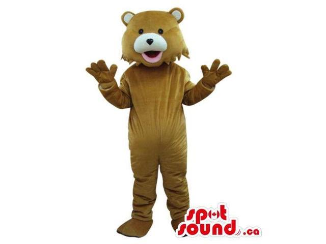 Brown Teddy Bear Forest Canadian SpotSound Mascot With White Nose And Ears