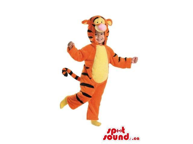 Cute Winnie The Pooh Tiger Character Children Size Costume