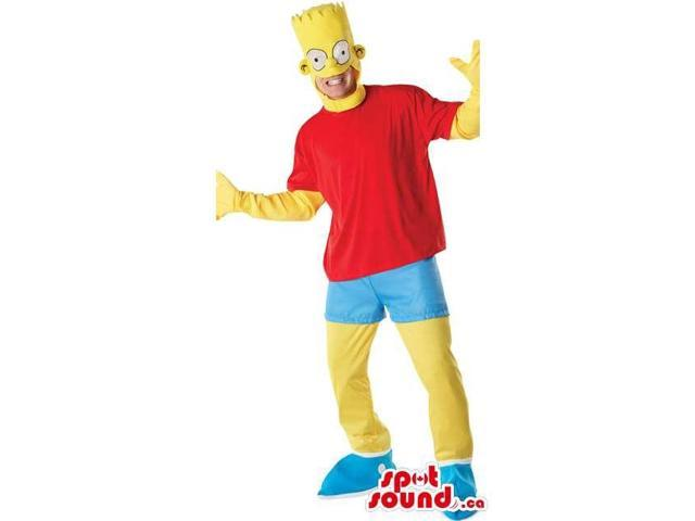 Bart Simpson Cartoon Character Adult Size Disguise