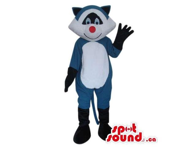 Raccoon Animal Plush Canadian SpotSound Mascot With A White Belly And Red Nose