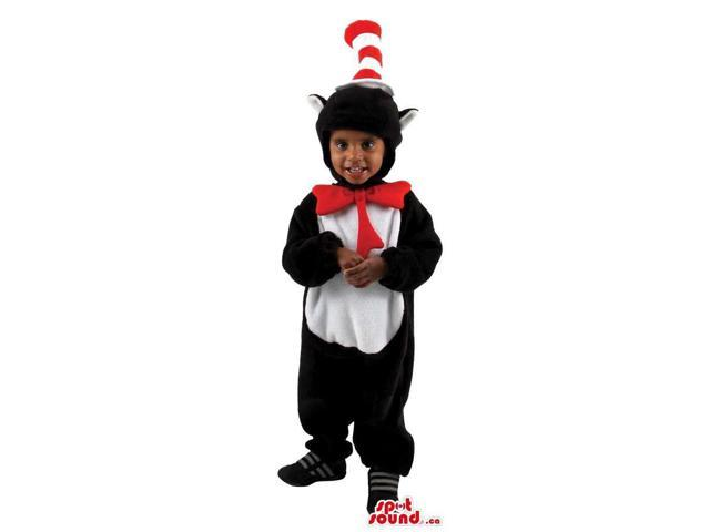 Great Cat In The Hat Cartoon Character Children Size Costume